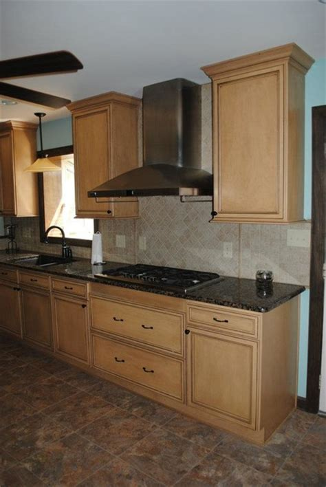 Kitchen Backsplash Pictures With Maple Cabinets by Duraceramic Floors Maple Cabinets Baltic Brown Granite