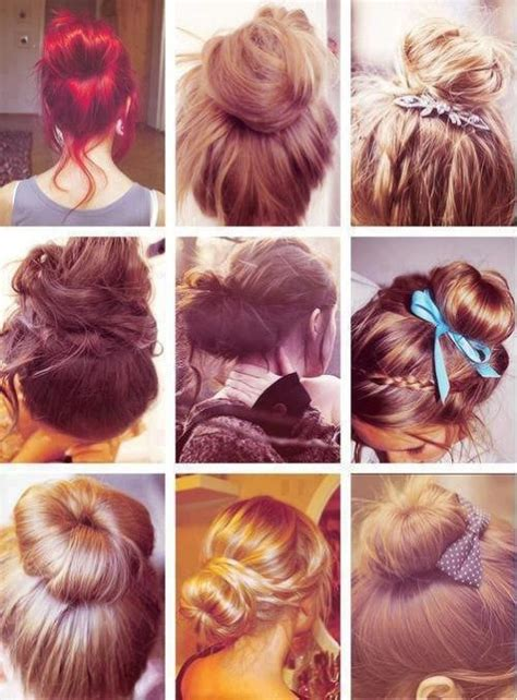 different types of hairstyle cute bun on tumblr