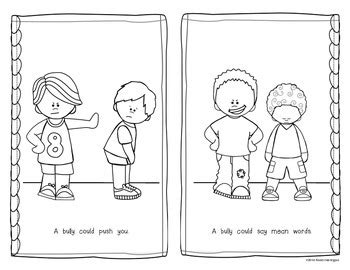 anti bullying coloring pages for kindergarten be a buddy not a bully emergent reader for