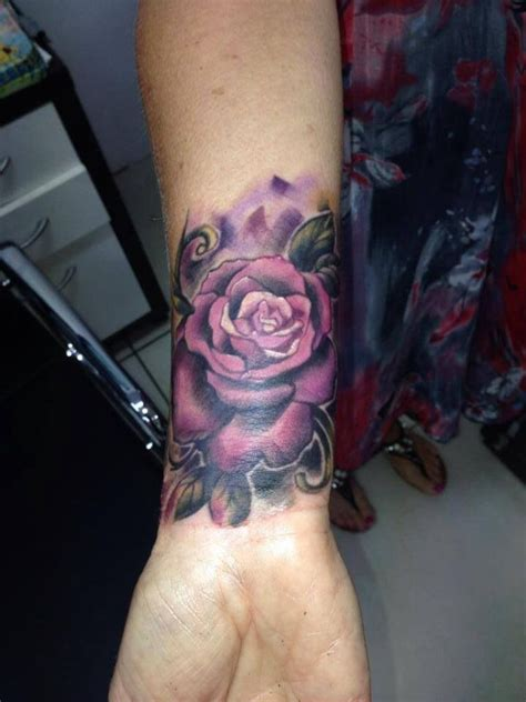 coloured rose tattoo 31 beautiful flower tattoos design on wrist