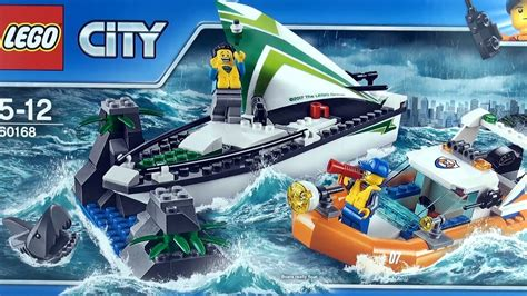 lego city sailboat rescue great white shark 60168 lego - Lego Boat And Shark