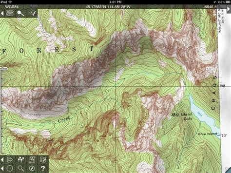 topographic map of topo maps for iphone and review makes