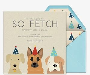 birthday card template for dogs invitations free ecards and planning ideas from evite