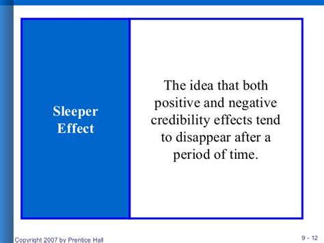 Sleeper Effect Marketing by Ccommunication And Consumer Behavior