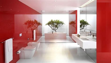 red bathroom designs modern bathroom interior design red and white interior