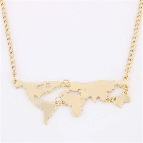 World Map Statement Necklace best 25 map necklace ideas on world map