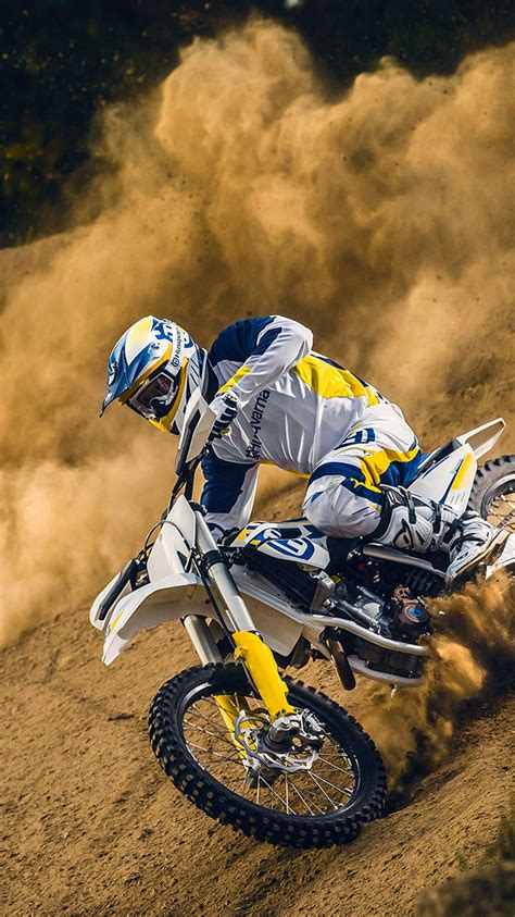 Wallpaper HD iPhone X, 8, 7, 6   Motocross Action   Free