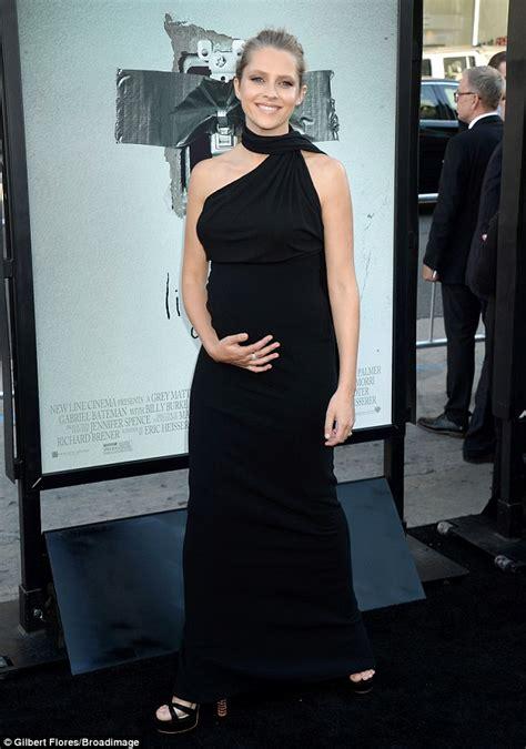 Teresa Platform Black teresa palmer nails maternity chic in asymmetric dress at