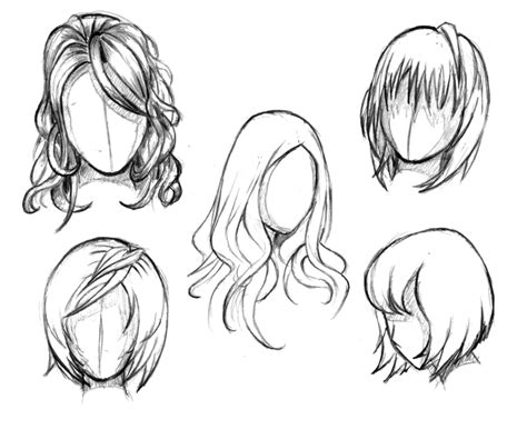 girl hairstyles to draw manga hair reference sheet 1 20130112 by styrbjorna on