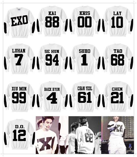 Sweater Got7 Sleeve Pilih Nama Member exo member sweater in white kitataki