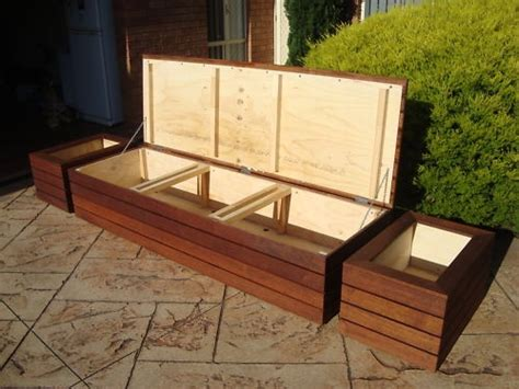 planter seat bench outdoor seating with storage outdoor storage bench seat