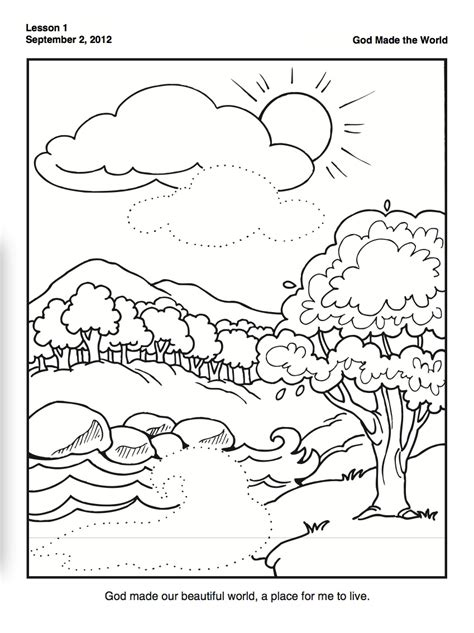 creation coloring page for preschoolers family time w
