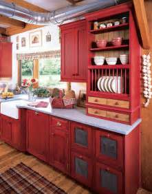 Red Kitchen Cabinets by Trend Homes Revolutionize Your Kitchen With Red Kitchen Ideas