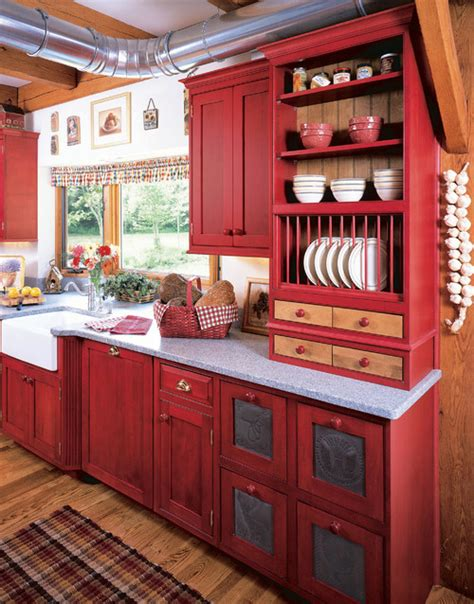 Red Painted Kitchen Cabinets by Trend Homes Revolutionize Your Kitchen With Red Kitchen Ideas