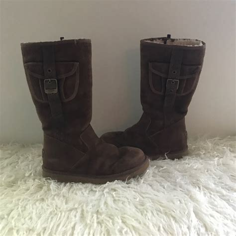 ugh boots for 74 ugg other ugh boots brown with side pockets size