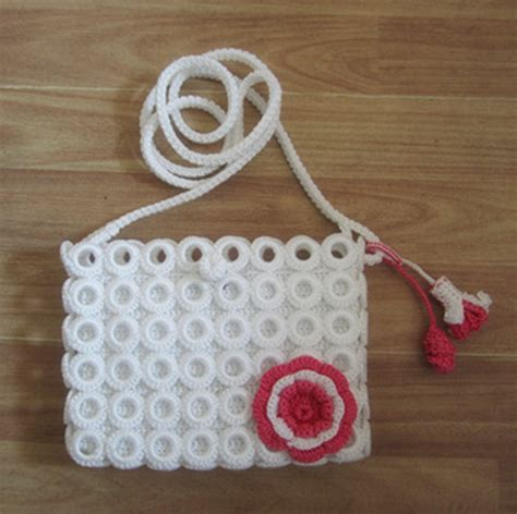 Handmade Knitting Bags - knit handbag lace fashion knitting handbag