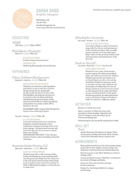 urban outfitters resume resume ideas