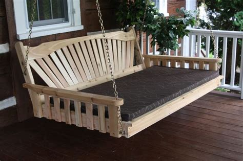 large porch swing bed 6 ft fanback porch swing bed authentic amish made