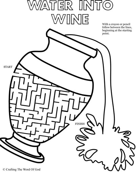 bible coloring pages water into wine water to wine puzzle activity sheet 171 crafting the word