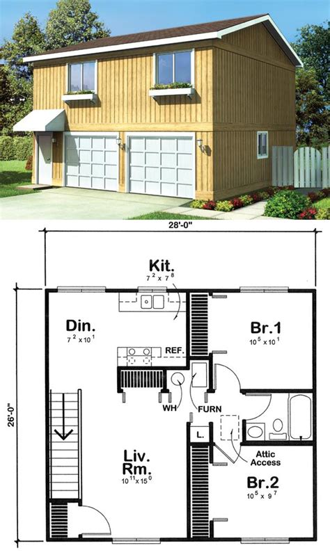 garage plans with loft apartment garage apartment plan 6015 has 728 square feet of living