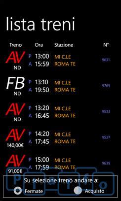 mobile viaggiatreno stazione info treno consulta le informazioni relative ai treni