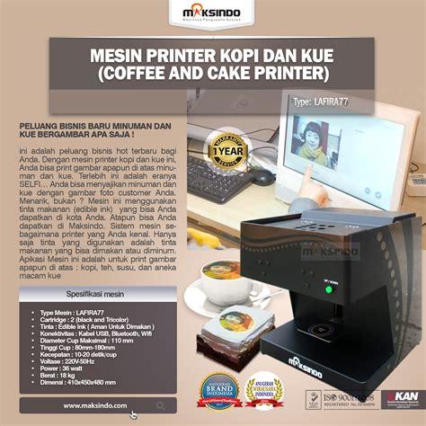 jual mesin printer kopi dan kue coffee and cake printer