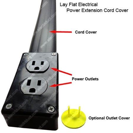 floor l with power outlet flat electrical power extension cord cover length 10ft