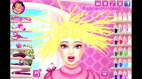 hairdressing games online barbie hair cutting game barbie makeover game youtube