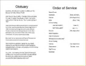 7 funeral order of service templateagenda template sample