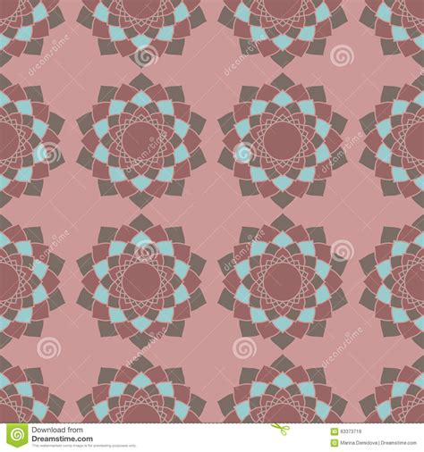vector seamless pattern abstract background with round ethnic arabic geometric seamless pattern stock vector