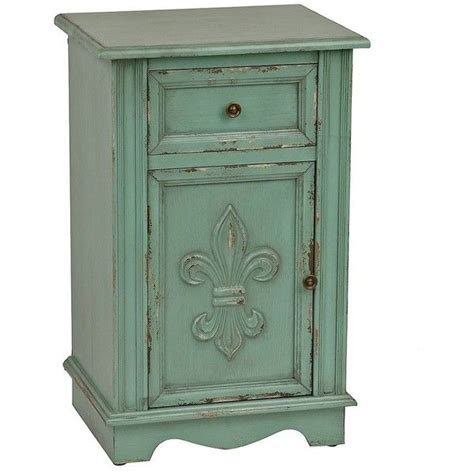 Turquoise Media Cabinet by Turquoise Fleur De Lis Cabinet 180 Cad Liked On Polyvore