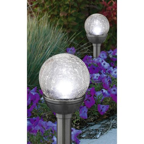 Solar Globe Lights Outdoor 20 Pk Of Crackle Globe Solar Lights 210427 Solar Outdoor Lighting At Sportsman S Guide