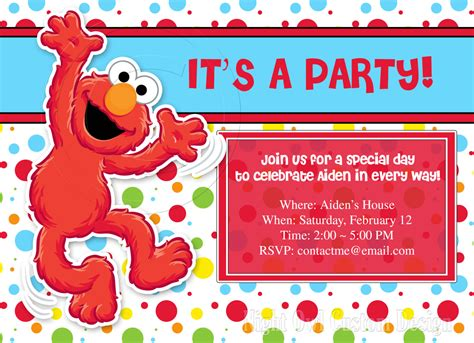 elmo invitation template free elmo birthday invitations ideas free