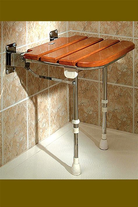 fold down shower bench teak fold down bench seats are nice space savers in a