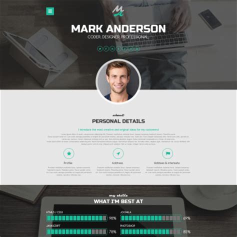 personal profile design templates designer portfolio themes
