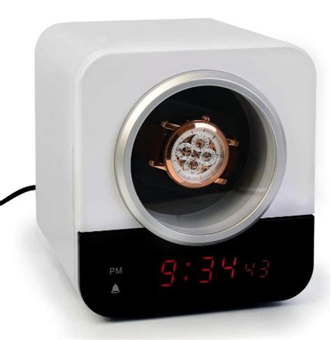 ivation clock precision watch winder for single automatic timepiece
