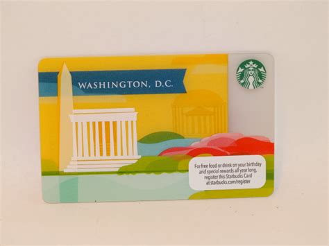 Dc Gift Cards - starbucks gift card washington dc zero balance