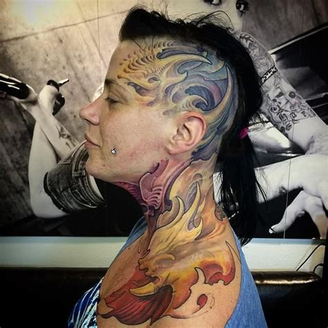 badass girl tattoos badass on a bold by benedek gy 246 rgy
