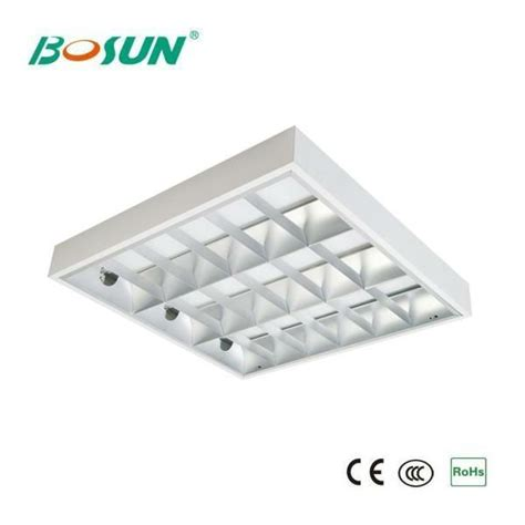 Grid Ceiling Lights 4x14w T5 Grid Fluorescent Ceiling Light Fixture With Electronic Ballast Buy Grid Fluorescent