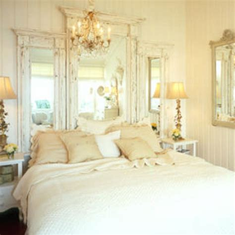 pinterest shabby chic bedroom chandelier and mirrored headboard chic vintage and