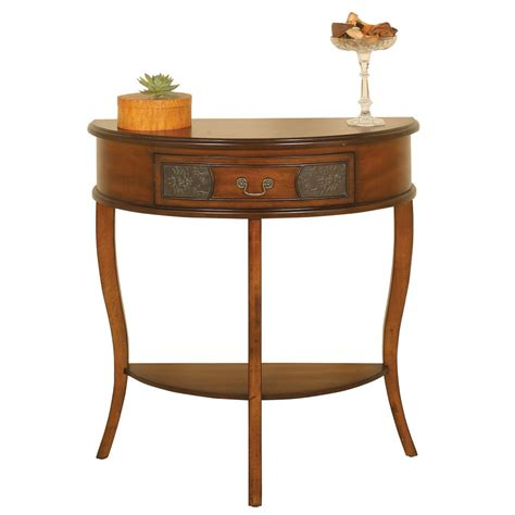 console accent tables 2336 half round console table passport accent furniture