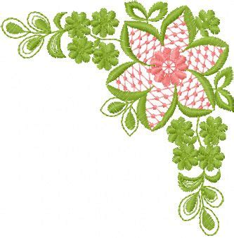 Patch Floral Bordir Bunga flower border machine embroidery design machine