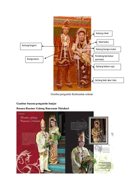 Anting Rangkap Permata tata upacara pengantin banjar