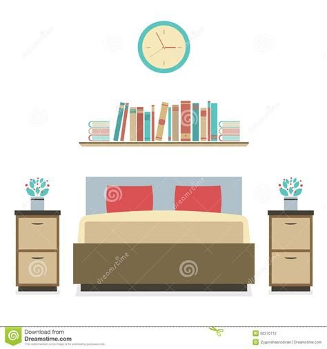 bedroom design vector modern flat design bedroom stock vector image of home