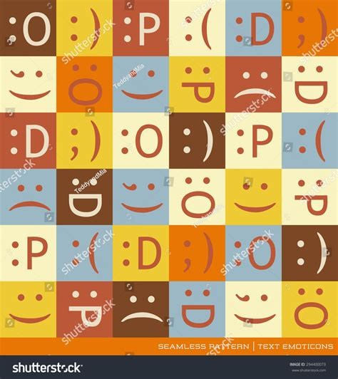 pattern finder text seamless vector pattern with emoticons text symbols