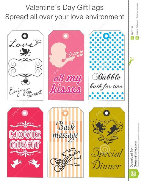 printable love gift tags love gift tags stock photos image 34457193