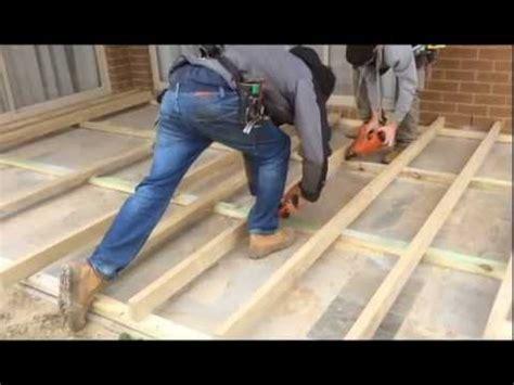 Decking Sub Floor Over Concrete & Paving   YouTube