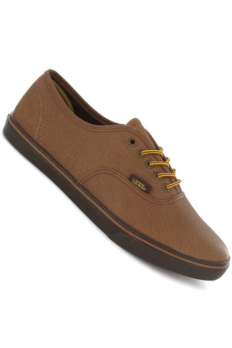 vans authentic lo pro leather shoe brown buy at