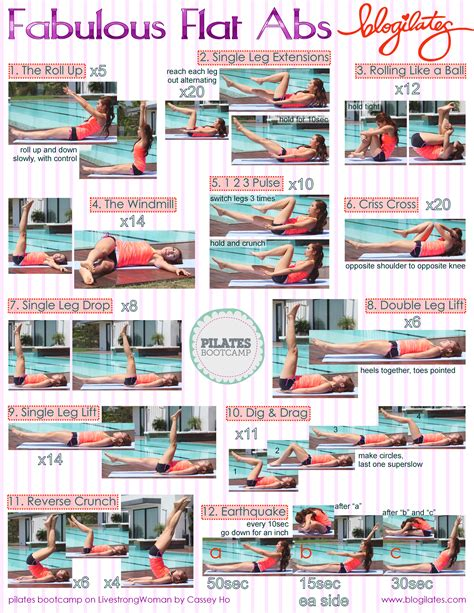 mid section workout fabulous flat abs pilates bootc printable do this