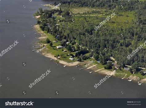 Belwood Lake Cottages by Cottages Along The Shore Of Belwood Lake Ontario Stock